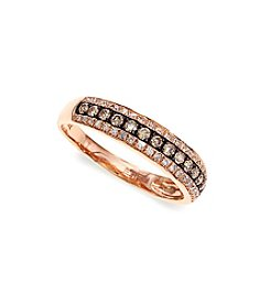 Effy® 0.39 ct. t.w. Espresso Diamond Ring in 14k Rose Gold