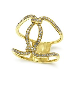 Effy® 0.29 ct. t.w. Diamond Twist Ring in 14K Yellow Gold