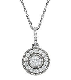 .50 ct. t.w. Diamond Pendant in 10K White Gold