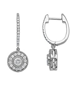 .75 ct. t.w. Diamond Drop Earrings in 10K White Gold