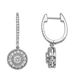 .75 ct. t.w. Diamond Drop Earrings in 10K White Gold