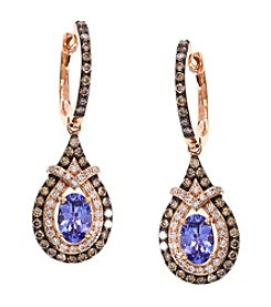 Effy® Tanzanite and .70 ct. t.w. Diamond Earrings in 14K Rose Gold