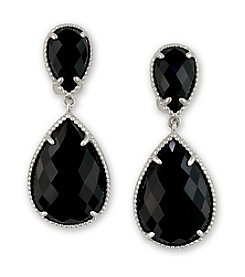 Effy® Onyx Drop Earrings in Sterling Silver