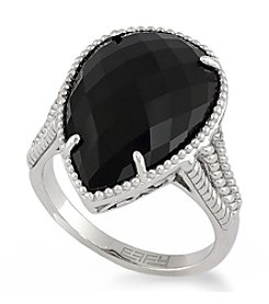 Effy® Onyx Ring in Sterling Silver