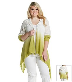 Olivia Sky Plus Size Space Dye Hooded Cardigan