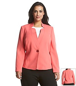Kasper® Plus Size Inverted Collar Blazer