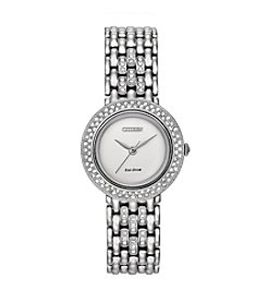 Citizen® Women's Eco-Drive Silhouette Crystal Watch with Interchangeable Bezels