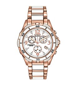 Citizen® Women's Eco-Drive Ceramic Chronograph Watch