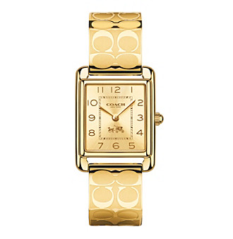 COACH WOMEN'S 24mm PAGE GOLDTONE BANGLE WATCH