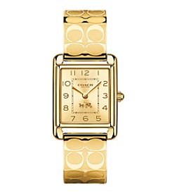 COACH WOMEN'S PAGE 24mm GOLDTONE BANGLE WATCH