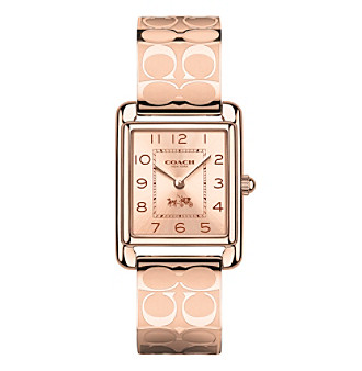 COACH WOMEN'S 24mm PAGE ROSE GOLDTONE BANGLE WATCH