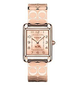 COACH PAGE ROSE GOLDTONE BANGLE WATCH