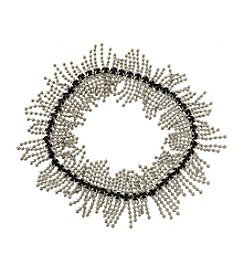 BT-Jeweled Palladium And Jet Shaky Stretch Bracelet