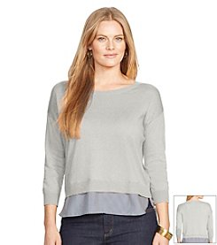Lauren Ralph Lauren® Plus Size Crewneck Layered Sweater