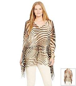 Lauren Ralph Lauren® Plus Size Zebra Tunic