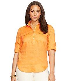 Lauren Ralph Lauren® Plus Size Linen Workshirt
