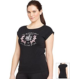 Lauren Active® Plus Size Stretch-Cotton T-Shirt
