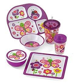 LivingQuarters Kids Butterfly Melamine Dinnerware