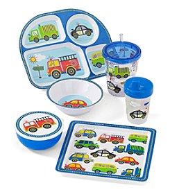 LivingQuarters Kids Cars & Trucks Melamine Dinnerware
