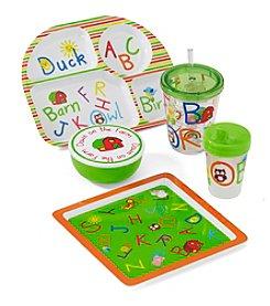 LivingQuarters Kids Alphabet Melamine Dinnerware