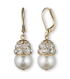 Anne Klein® Goldtone Simulated Pearl Drop Earrings