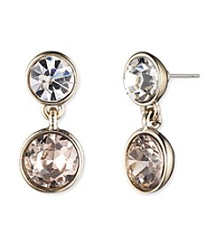 Givenchy® Goldtone Round Drop Earrings