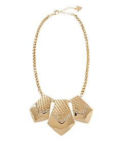 GUESS Goldtone Statement Crystal Accent Necklace