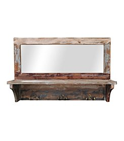 Sheffield Home® Shelf With Mirror And Hooks