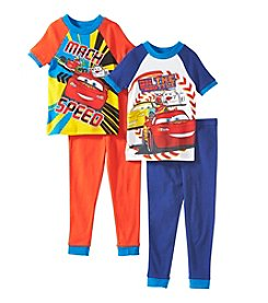 Cars Boys' 2T-4T 4-Piece Snug-Fit Speed Pajama Set