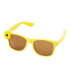 Little Miss Attitude Girls' Flower Applique Sunglasses
