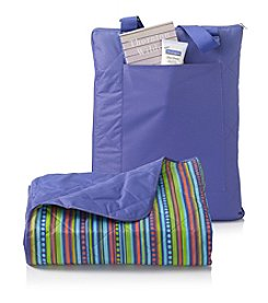 LivingQuarters Tropical Stripe All Weather Throw