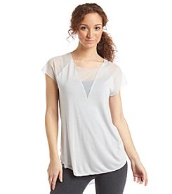 Exertek® Short Sleeved Mesh Pieced Tunic