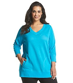 Exertek® Plus Size Mesh V-Neck Tunic