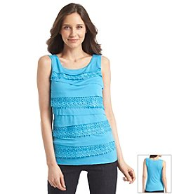 Relativity® Crochet Tiered Tank Top