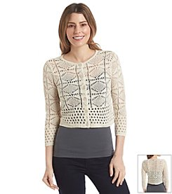Jeanne Pierre® Button-Front Shrug