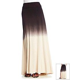 Bobeau Dip Dye Maxi Skirt