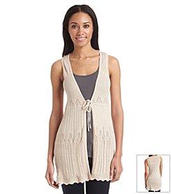 August Silk® Crochet Vest