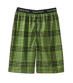 Calvin Klein Boys' 5-16 Plaid Jam Shorts