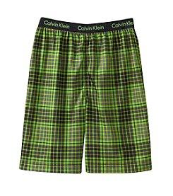 Calvin Klein Boys' 5-16 Plaid Jam Shorts