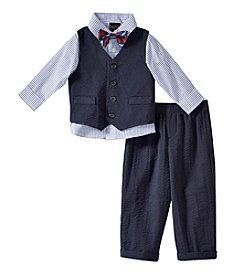Nautica® Baby Boys' Seersucker Vest Outfit Set