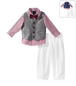 Nautica® Baby Boys' Linen Twill Vest Outfit Set
