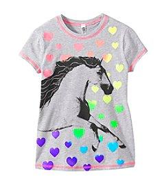 Beautees Girls' 7-16 Horse & Hearts Screen Tee