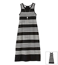 Amy Byer Girls' 7-16 Striped Maxi Dress