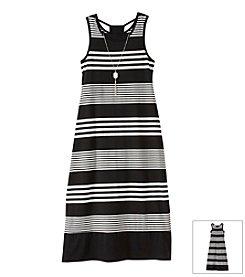 Amy Byer Girls' 7-16 Striped Maxi Dress