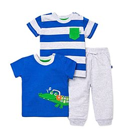 Little Me® Baby Boys' 3-Piece Crocodile Daycare Outfit Set