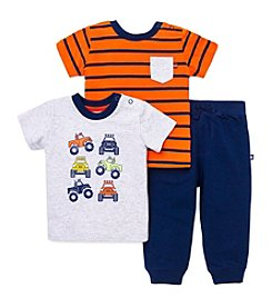 Little Me® Baby Boys' 3-Piece Monster Truck Daycare Outfit Set