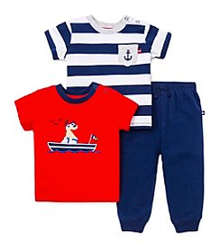 Little Me® Baby Boys' 3-Piece Nautical Daycare Outfit Set