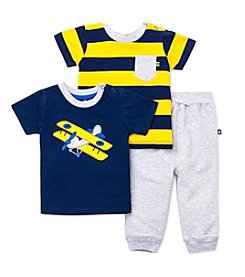 Little Me® Baby Boys' 3-Piece Airplane Daycare Outfit Set