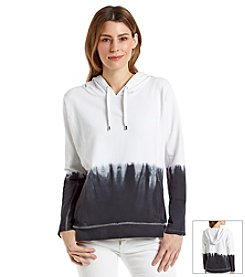 Chaus Dip Dye French Terry Hoodie