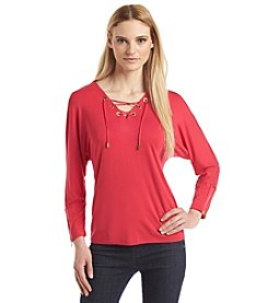 Calvin Klein Lace Up Dolman Top